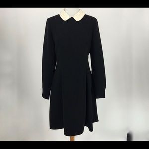 Size 10 Kate Spade Black Dress w/ White Collar